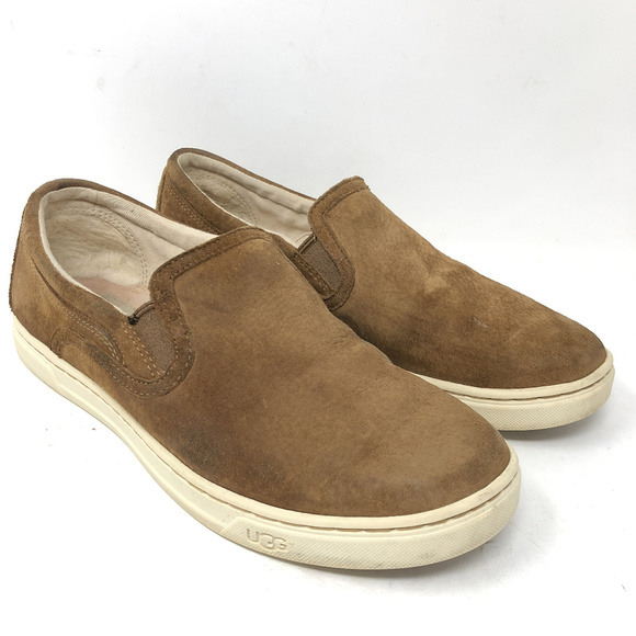79b3248eeb1 Ugg Fierce Slip On Sneakers Chestnut Suede Loafers
